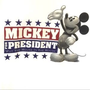 Mickey for President Tee Large